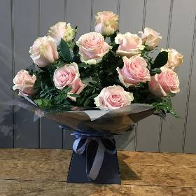 Pink Rose Hand tied